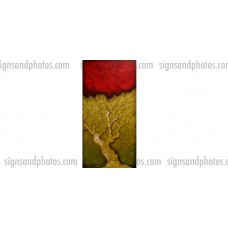 """Tree Abstract 8""""x16.5"""" Acrylic (Limited edition of 10)"""