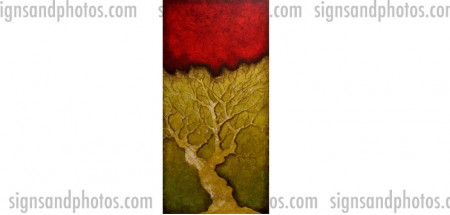"Tree Abstract 8""x16.5"" Acrylic (Limited edition of 10)"