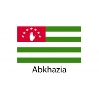 Abkhazia Flag sticker die-cut decals