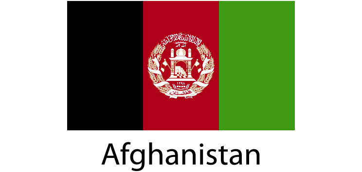 Afghanistan Flag sticker die-cut decals