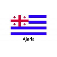 Ajaria Flag sticker die-cut decals