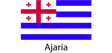 Ajaria Flag sticker die-cut decals