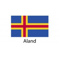 Aland Flag sticker die-cut decals