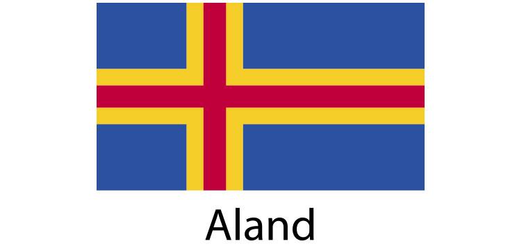 Aland Flag sticker die-cut decals