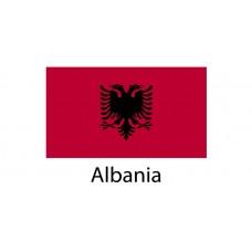 Albania Flag sticker die-cut decals