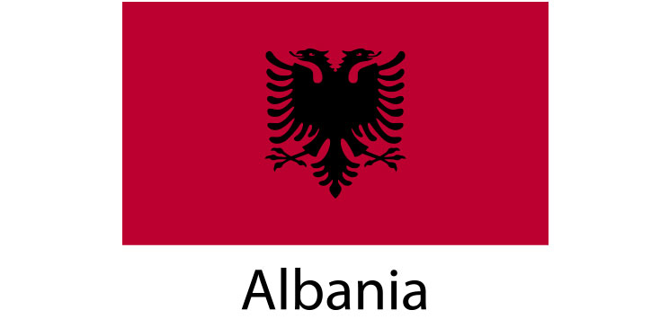 Albania Flag sticker die-cut decals