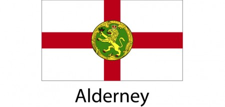 Alderney Flag sticker die-cut decals