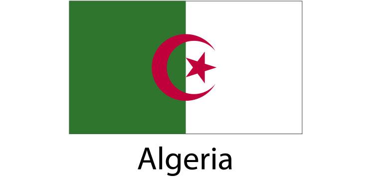 Algeria Flag sticker die-cut decals