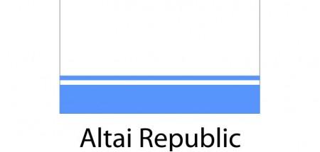 Altai Republic Flag sticker die-cut decals
