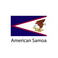 American Samoa Flag sticker die-cut decals