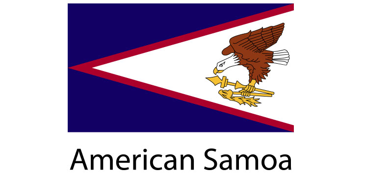American Samoa Flag sticker die-cut decals