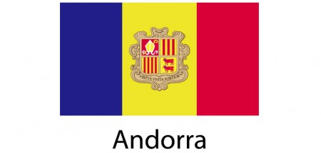 Andorra Flag sticker die-cut decals