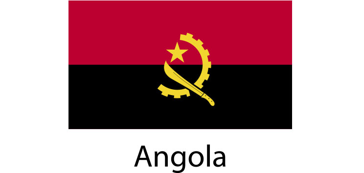 Angola Flag sticker die-cut decals