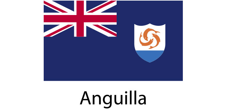 Anguilla Flag sticker die-cut decals