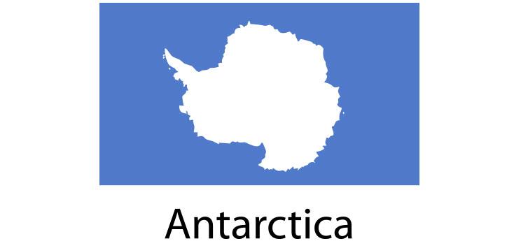Antarctica Flag sticker die-cut decals