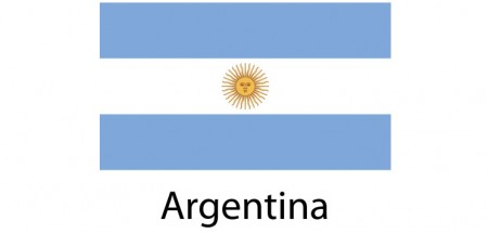 Argentina Flag sticker die-cut decals