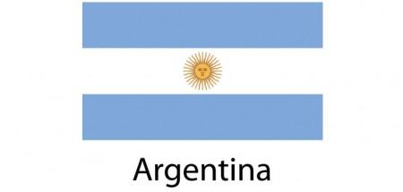 Argentina Flag sticker die-cut decals
