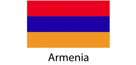 Armenia Flag sticker die-cut decals