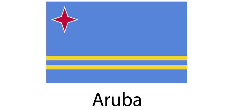 Aruba Flag sticker die-cut decals