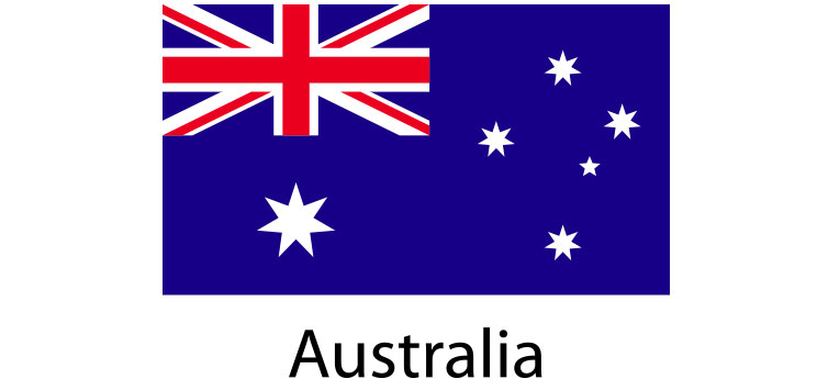 Australia Flag sticker die-cut decals
