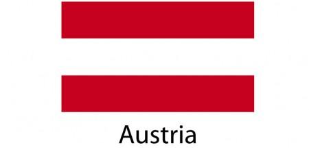 Austria Flag sticker die-cut decals