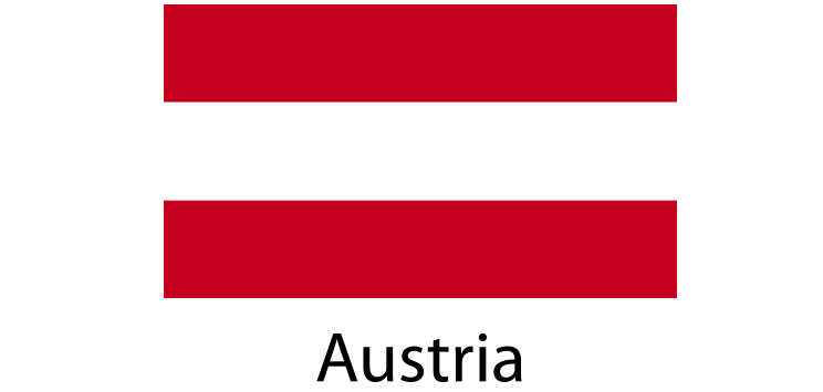 Austria Flag sticker die-cut decals