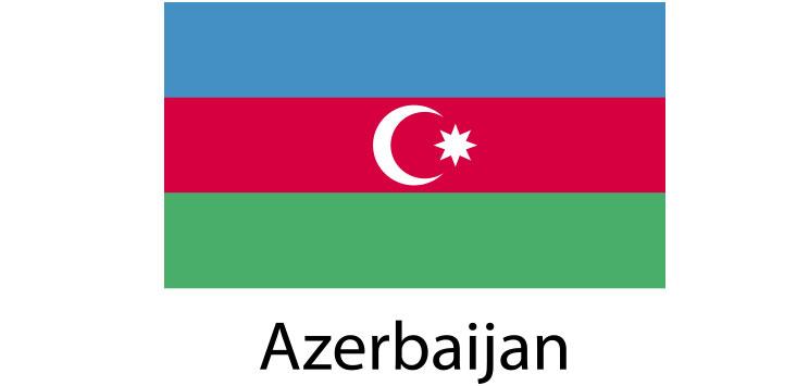 Azerbaijan Flag sticker die-cut decals