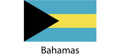 Bahamas Flag sticker die-cut decals