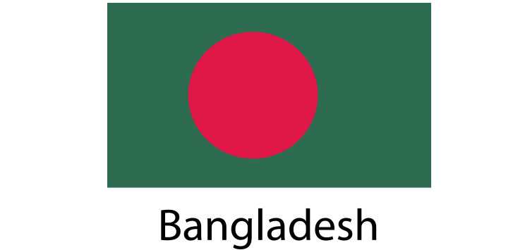 Bangladesh Flag sticker die-cut decals