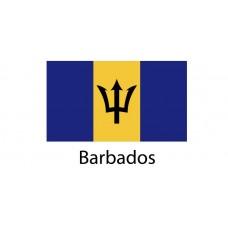Barbados Flag sticker die-cut decals