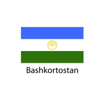 Bashkortostan Flag sticker die-cut decals
