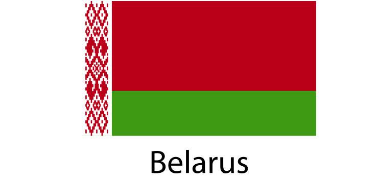 Belarus Flag sticker die-cut decals