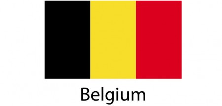 Belgium Flag sticker die-cut decals
