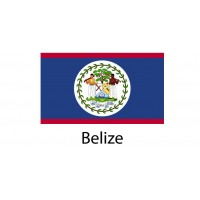 Belize Flag sticker die-cut decals