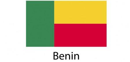 Benin Flag sticker die-cut decals