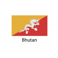Bhutan  Flag sticker die-cut decals