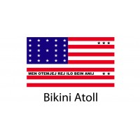 Bikini Atoll Flag sticker die-cut decals
