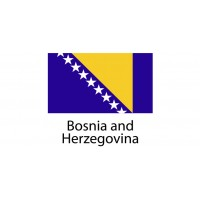 Bosnia and Herzegovina Flag sticker die-cut decals
