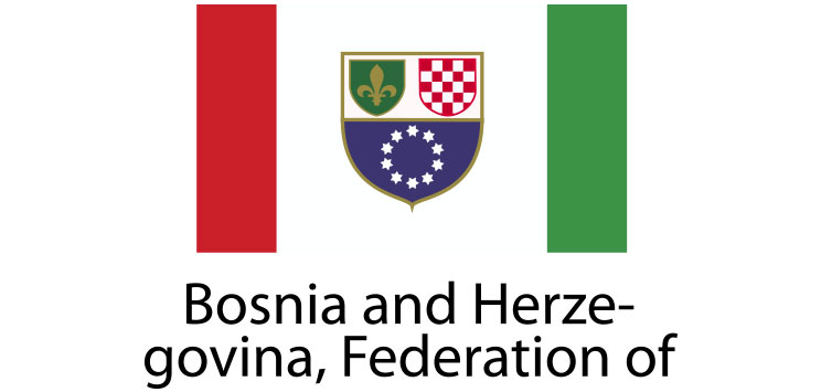 Bosnia and Herzegovina federation of Flag sticker die-cut decals
