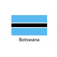 Botswana Flag sticker die-cut decals