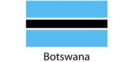 Botswana Flag sticker die-cut decals