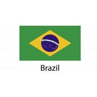 Brazil Flag sticker die-cut decals