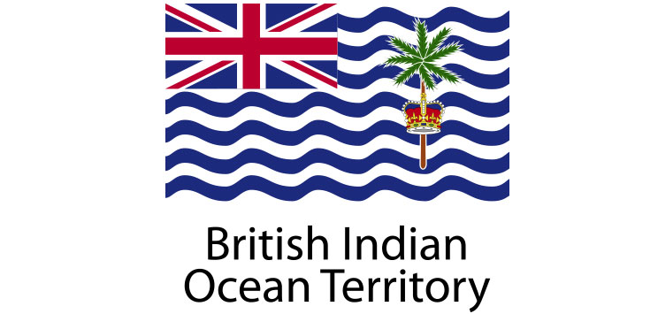 British Indian Ocean Territory Flag sticker die-cut decals