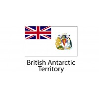 British Antarctic  Flag sticker die-cut decals