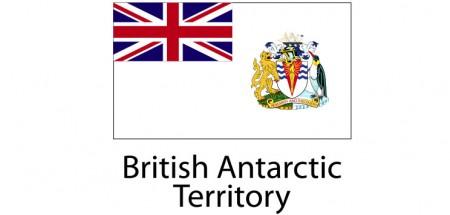 British Antarctic  Flag sticker die-cut decals