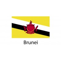 Brunei Flag sticker die-cut decals