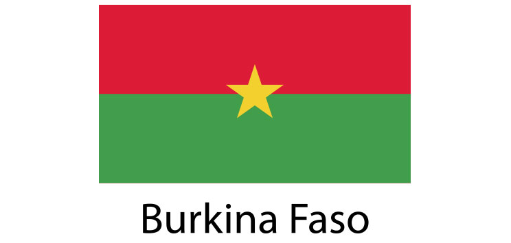 Burkina Faso Flag sticker die-cut decals