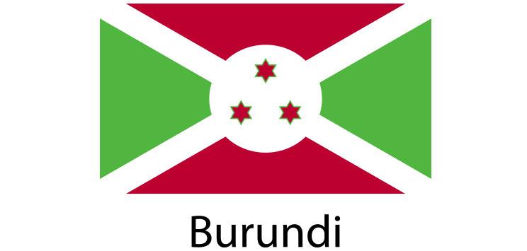 Burundi Flag sticker die-cut decals