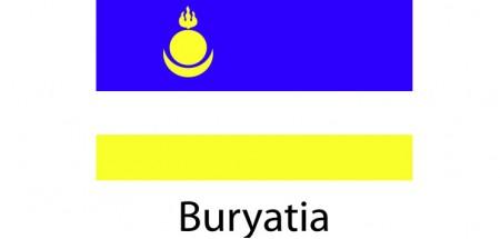 Buryatia Flag sticker die-cut decals
