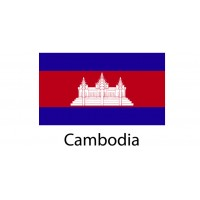 Cambodia Flag sticker die-cut decals
